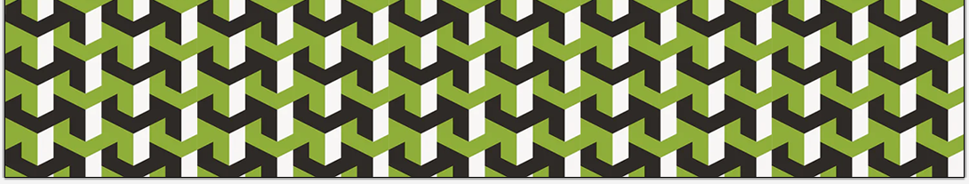 Green and grey geometric pattern from book 6